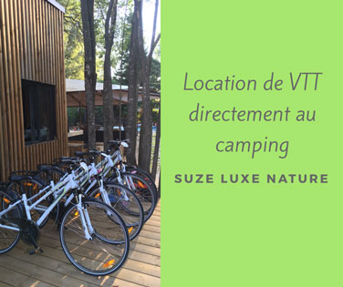 Mountain bike rental at Suze Campsite
