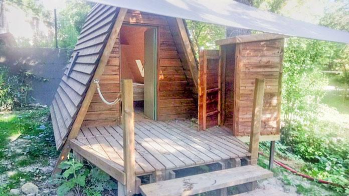cabane bout du monde camping Suze