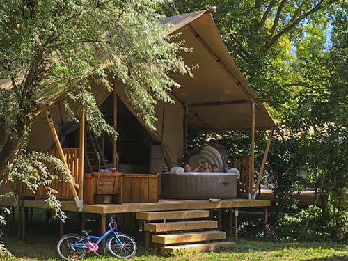 Lodge Riviere Camping Suze Luxe Nature