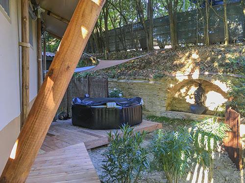 Lodge Zen Camping Provence Mahlzeiten Ecke