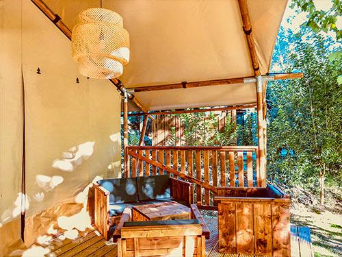Lodge Chèvrefeuille Extérieur Camping Suze Luxe