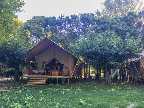 Lodge Naturel avec Chambre Camping Suze Luxe Nature