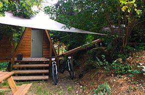 camping avec spa privé dans la Drome