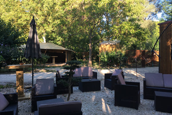 Campsite in Provence with relaxation area