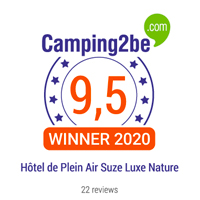 camping2be award suze nature